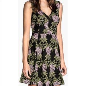 H&M Pineapple Design Fit & Flare Skater Dress